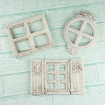 Prima - Architecture Collection - Resin Embellishments - Mini Windows