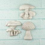 Prima - Shabby Chic Collection - Resin Treasure Embellishments - Mushrooms