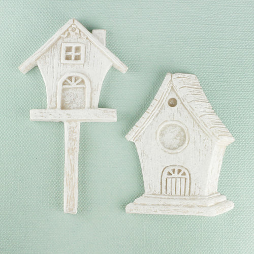 Prima - Shabby Chic Collection - Resin Treasure Embellishments - Bird Homes