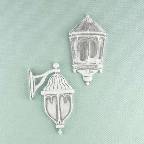 Prima - Shabby Chic Collection - Metal Treasure Embellishments - Outdoor Wall Lamp