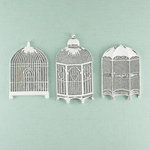 Prima - Shabby Chic Collection - Metal Treasure Embellishments - Bird Cages