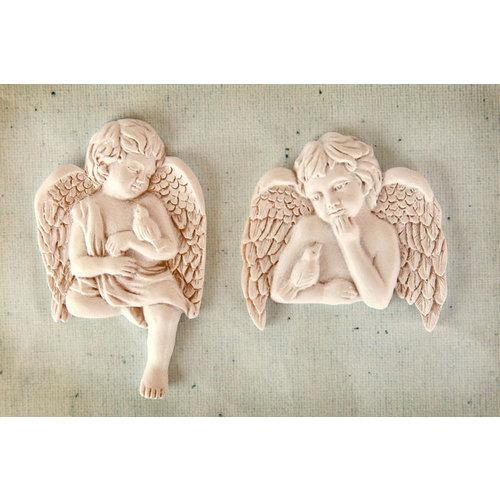 Prima - Resin Collection - Ingvild Bolme - Resin Embellishments - Cherub with Bird