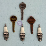 Prima - Junk Yard Findings Collection - Ingvild Bolme -Trinkets - Metal Embellishments - Ignition Keys