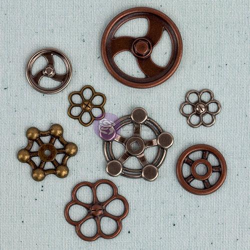 Prima - Junk Yard Findings Collection - Ingvild Bolme -Trinkets - Metal Embellishments - Faucet Wheels