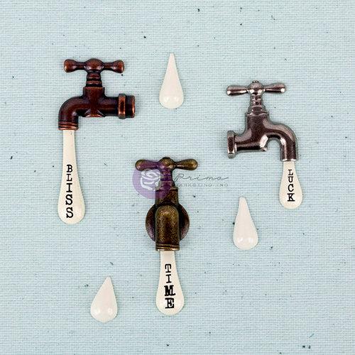 Prima - Junk Yard Findings Collection - Ingvild Bolme -Trinkets - Metal Embellishments - Vintage Water Taps