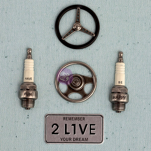 Prima - Junk Yard Findings Collection - Ingvild Bolme -Trinkets - Metal Embellishments - Car Parts