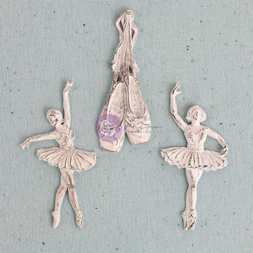 Prima - Shabby Chic Treasures Collection - Ingvild Bolme - Resin Embellishments - Ballerina