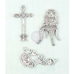Prima - Shabby Chic Treasures Collection - Ingvild Bolme - Metal Embellishments - Cast Iron