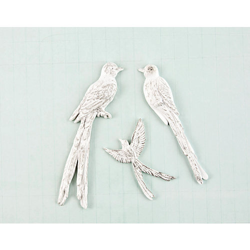 Prima - Shabby Chic Treasures Collection - Ingvild Bolme - Resin Embellishments - Birds