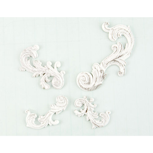 Prima - Shabby Chic Treasures Collection - Ingvild Bolme - Resin Embellishments - Swirls