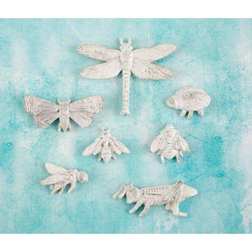 Prima - Shabby Chic Treasures - Ingvild Bolme - Resin Embellishments - Bugs