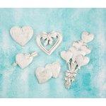 Prima - Shabby Chic Treasures - Ingvild Bolme - Resin Embellishments - Hearts