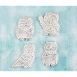 Prima - Shabby Chic Treasures - Ingvild Bolme - Resin Embellishments - Owls