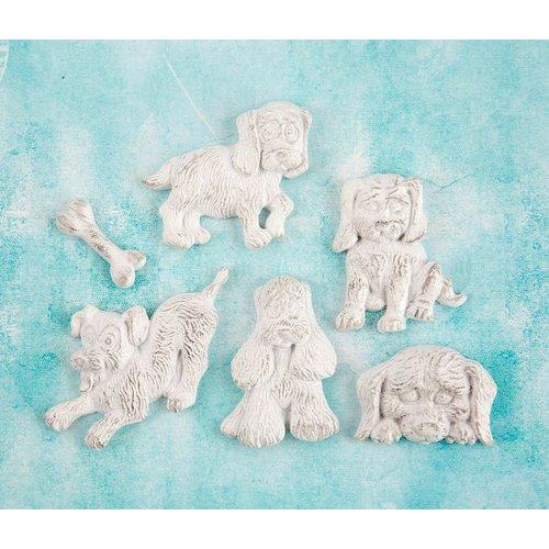 Prima - Shabby Chic Treasures - Ingvild Bolme - Resin Embellishments - Puppies