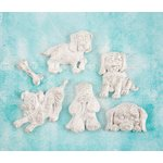 Prima - Shabby Chic Treasures - Ingvild Bolme - Resin Embellishments - Puppies