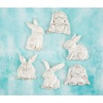 Prima - Shabby Chic Treasures - Ingvild Bolme - Resin Embellishments - Rabbits