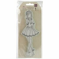 Prima - Julie Nutting - Cling Mounted Stamps - Mixed Media Doll - Doll with Bolero