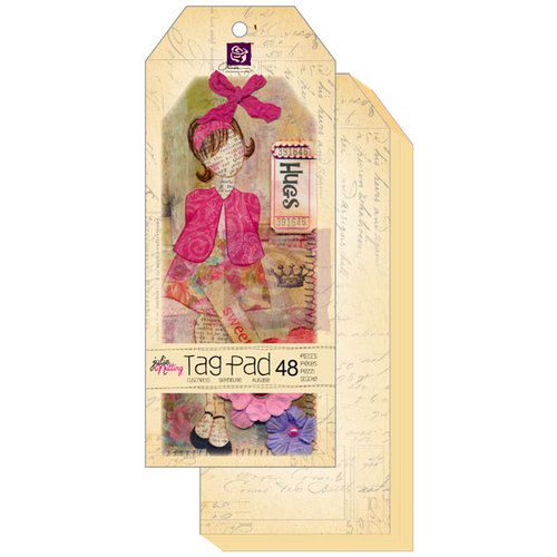Prima - Julie Nutting - Mixed Media Tag Pad - Doll