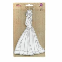 Prima - Julie Nutting - Cling Mounted Stamps - Mixed Media Doll - Lorrena