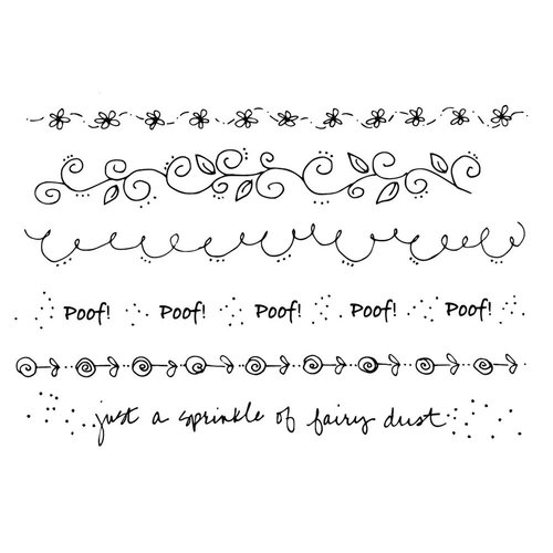 Prima - Julie Nutting - Cling Mounted Stamps - Mixed Media Background
