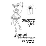 Prima - Julie Nutting - Cling Mounted Stamp Kit - Mixed Media Doll - Party Girl