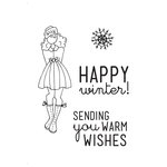 Prima - Julie Nutting - Cling Mounted Stamp Kit - Mixed Media Doll - Warm Wishes