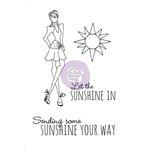 Prima - Julie Nutting - Cling Mounted Stamp Kit - Mixed Media Doll - Sunshine