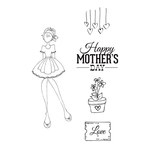 Prima - Julie Nutting - Cling Mounted Stamps - Mama's Day