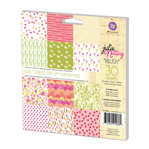 Prima - Julie Nutting - 6 x 6 Paper Pad - Dress Me Up - One