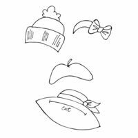 Prima - Julie Nutting - Cling Mounted Stamps - Hats 2