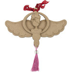 Prima - Julie Nutting - Christmas - Etched Wood Ornament - Angel