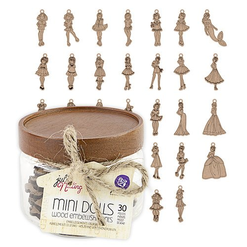 Prima - Julie Nutting - Wood Embellishments - Mini Dolls