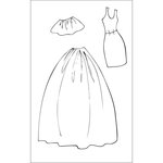 Prima - Julie Nutting - Cling Mounted Stamps - Dress and Skirts