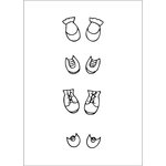 Prima - Julie Nutting - Cling Mounted Stamps - Shoe Set