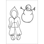 Prima - Julie Nutting - Cling Mounted Stamps - Snow Suit Set
