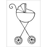 Prima - Julie Nutting - Cling Mounted Stamps - Stroller