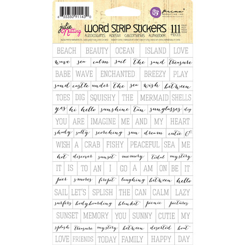 Prima - Julie Nutting - Cardstock Stickers - Word Strip