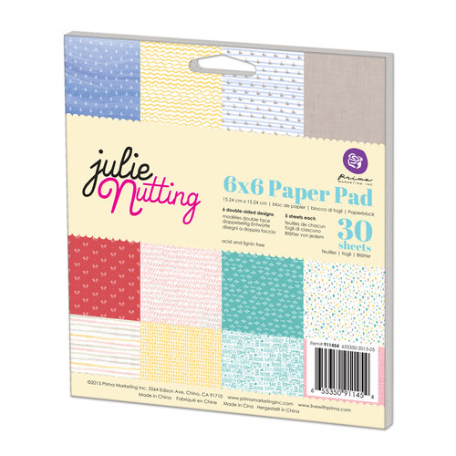 Prima - Julie Nutting - 6 x 6 Paper Pad - Two