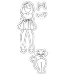 Prima - Julie Nutting - Halloween - Cling Mounted Stamps - Catgirl