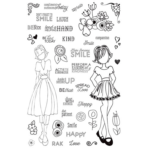 Prima - Julie Nutting - Clear Acrylic Stamps - Make Kindness Happen
