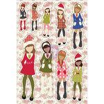 Prima - Julie Nutting - Cardstock Stickers - December