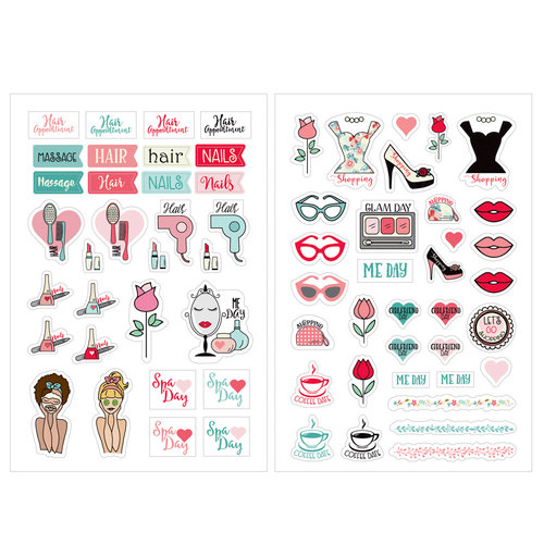 Prima - Julie Nutting - Planner - Cardstock Stickers - Beauty