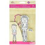 Prima - Julie Nutting - Cling Mounted Stamps and Metal Die Set - Violet