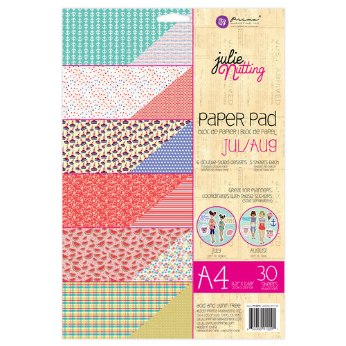 Prima - Julie Nutting - A4 Paper Pad - July and August