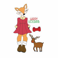 Prima - Julie Nutting - Christmas - Cling Mounted Stamps - Foxy