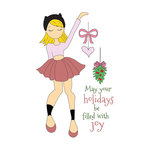 Prima - Julie Nutting - Christmas - Cling Mounted Stamps - Joy Doll