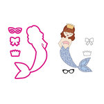 Prima - Mermaid Kisses Collection - Cling Mounted Stamps and Metal Die Set - Hanalei