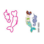Prima - Mermaid Kisses Collection - Cling Mounted Stamps and Metal Die Set - Merbaby