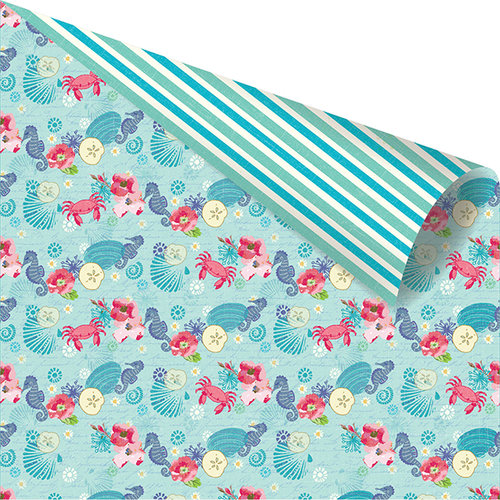 Prima - Mermaid Kisses Collection - 12 x 12 Double Sided Paper - Sea Friends