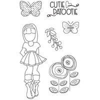 Prima - Julie Nutting - Cling Mounted Stamps - Mixed Media Doll - Ivy